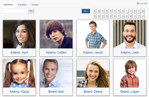 Member Directory for church websites.