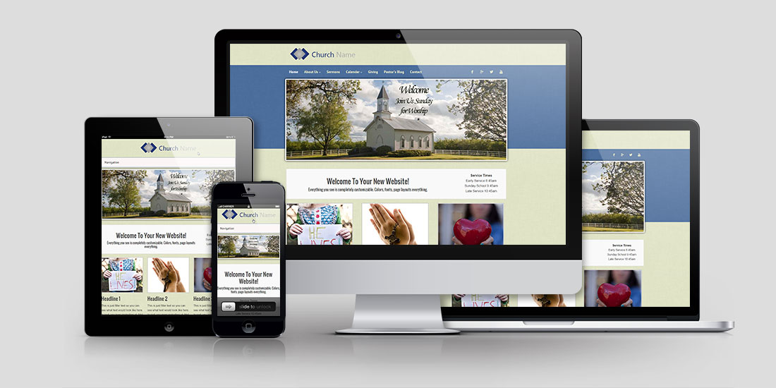 Build a church website you can be proud of for Building design website