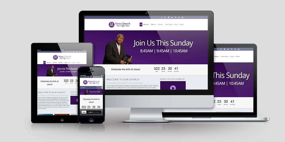 Church Website Design CD119